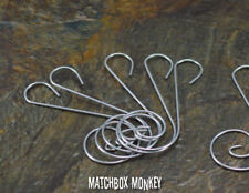 10 Decorative Silver S Swirl Wire Christmas Tree Ornament Hooks or Hangers NEW!