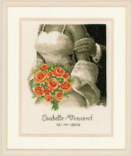 The Bouquet : Wedding Record :   Vervaco Counted Cross Stitch Kit - PN0012176