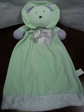 """Applause Large Security Blanket Lion Head Green Soft Lovey Blanky Boy Girl 21"""""""