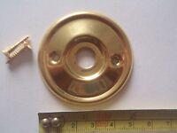 A RE-PLACEMENT BRASS DOOR KNOB BACK PLATE / ROSE 46 mm DIAMETER RIM LOCK ETC.