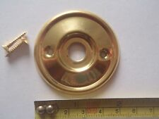 A RE-PLACEMENT BRASS DOOR KNOB BACK PLATE / ROSE 46 mm DIAMETER RIM LOCK ETC.