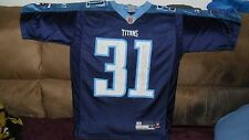 NFL TENNESSEE TITANS CALLAHAN #31 JERSEY SCREENED PRINT TITANS SZ.SMALL RBK