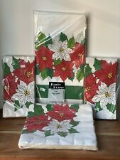 Vintage Poinsettia Decoration Christmas Holiday Party Supply New Old stock