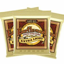 Ernie Ball PO2006 Earthwood 80/20 Bronze Extra Light Acoustic Strings 3 SETS