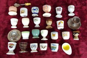 EGG CUPS Job Lot Bundle 25x Vintage Eggcups collection job lot eggs cup