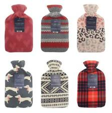 Premium Christmas Gift Soothing Hot Water Bottle with Novelty Fleece Cover - 2L