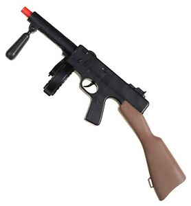 "19.5"" Tommy Gun Toy Plastic Thompson Machine Gangster Costume Accessory Noise"