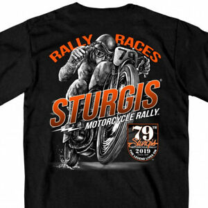 2019 Sturgis Motorcycle Rally Solo Racer Black T-Shirt #1781