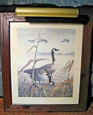 "Duck Goose The Sentinel 20"" x 24"" Print Signed Twice Ralph J. McDonald 1960's"