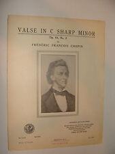 Chopin Valse in C Sharp Minor Op 64 No 2 1937 Art Publication Society edition