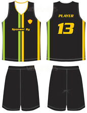 12 Custom sublimation basketball jersey uniform complete set for teams and clubs