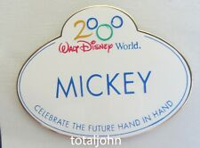 Disney WDW Cast Member - Name Tag Mickey Pin