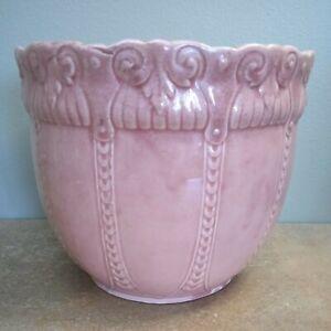 Antique Art Nouveau, Large Pink Jardiniere or Planter / Plant Pot, England