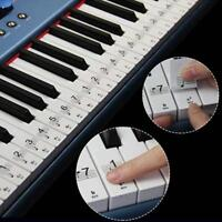 Reusable Color Piano Key Note Keyboard Stickers - Learn to Play Music Q