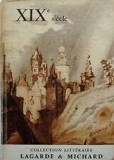 collection littéraire LAGARDE et MICHARD  -  XIXe siecle  - 1968