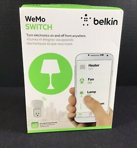 Belkin WeMo Switch WiFi Home Remote Automation Light Switch New In Box Sealed