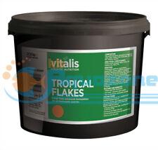 Vitalis Tropical Range Flake Fish Food 200g Flakes Large Health Colour Aquarium