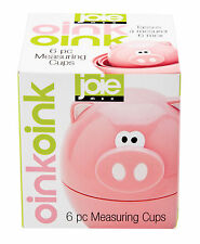 Harold Piggy Wiggy Oink Oink Nesting Dry Liquid Baking Measuring Cups - Set Of 6