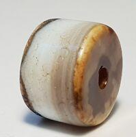 ANCIENT RARE INDO-TIBETAN CHUNG AGATE DISC BEAD