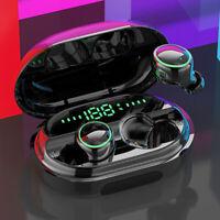 Bluetooth 5.0 Headset TWS Wireless Earphones Mini Stereo Headphones LED Earbuds