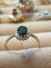 Michael Hill Sapphire And Diamond Ring 10k Yellow Gold