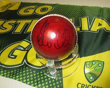 Steve Smith  (Australia) signed Red Cricket Ball + COA + Photo proof signing