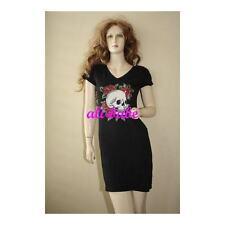 Ed Hardy Skull roses tunic t-shirt Dress M NWT $200