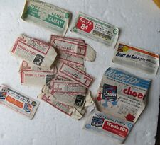 Kirkman Borax Soap Coupons (17) PLUS! 5 others OXYDOL Cheer CAMAY 1940's/1950's