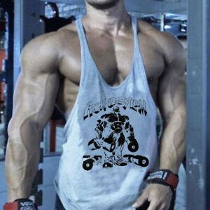 Muscle Killer Men Gym Tank Top Stringers Workout Sleeveless Bodybuilding Vest