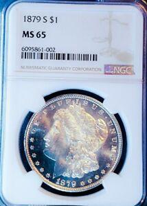 1879 S MS65 MORGAN SILVER DOLLAR  MIRRORS/SUPER STAR SHOULD BE PL/DMPL SO PQ .2