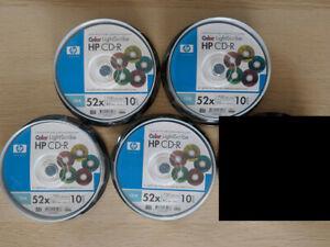 40 Stück HP Lightscribe CD-R color mix Rohlinge farbig - CD blank discs