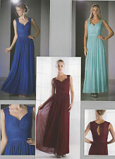Flattering Bridesmaids Chiffon Dresses Wide Straps Homecoming Party Prom XS~3XL
