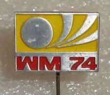 Germany 1974 FIFA Football World Cup Deutschland Fussball Anstecknadel Logo pin
