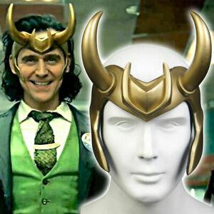 Loki Helmet Crown Horns Cosplay Headgear Adult Headwear PVC Helmet Costume Prop