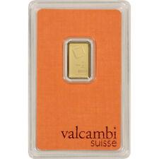 2.5 gram Gold Bar - Valcambi Suisse - 999.9 Fine in Sealed Assay