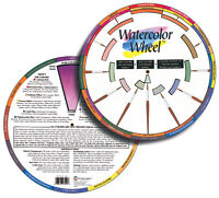 ARTIST WATERCOLOUR PAINTING WHEEL LARGE MIXING GUIDE 144 PAINT COLOURS & WASHES