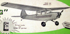 "Vintage L-19 BIRD DOG 46"" RC PLAN & Article + Patterns to Build a Model Airplane"