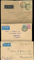 BRITISH INDIA TO GREAT BRITAIN 3 Different Covers VF