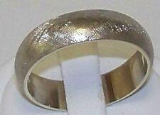 14K mens white gold wedding band 6mm,6.2 gram NR