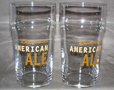 Budweiser American Ale Pint glass / SET of Two / from 2008 Discontinued in 2011