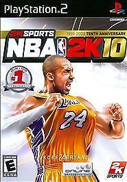 NBA 2K10 (Sony PlayStation 2, 2009) PS2 Complete W/ Manual Featuring Kobe Bryant
