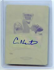 CAM NEWTON 2011 BOWMAN STERLING YELLOW PRINTING PLATE ROOKIE AUTOGRAPH TRUE 1/1