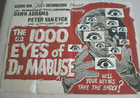 Filmplakat,Plakat,THE 1000 EYES OF DR MABUSE,DAWN ADDAMS ,PETER VAN EYCK#137