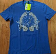 Mens Authentic Versace Jeans Royal Palms T-Shirt Cobalt Blue XL $175