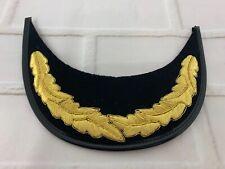RN ROYAL NAVY GOLD OAK LEAF VINYL WIRE EMBROIDERED PEAK British Military Unused