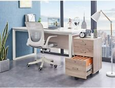 Mobile 3 Drawer Rolling Wood File Cabinet With Lock Oak
