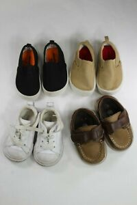 Lot Of 4~ 2 Garanimals (T3) 1 Converse (T3) 1 Teeny Toes (T4) Toddler Boys Shoes