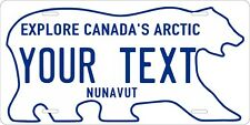 Nunavut 1999 license plate Personalized Auto Car Custom VEHICLE OR MOPED