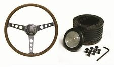 MAZDA R100 RX2 RX3 RX4 SAAS Classic Steering Wheel 380mm Wood Grain & Boss Kit