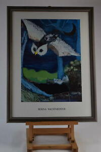 Rosina Wachtmeister Framed And Glazed Rare Owl In Moonlight Large Print Picture